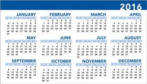 2016 Calendar Business Card Mind2Print