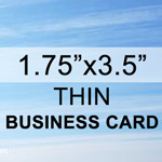 Thin 1.75 x 3.5 Business Card